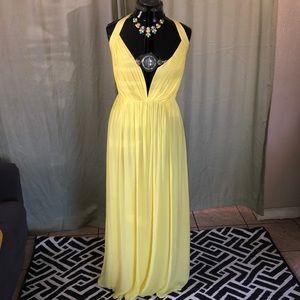 New beautiful yellow dress